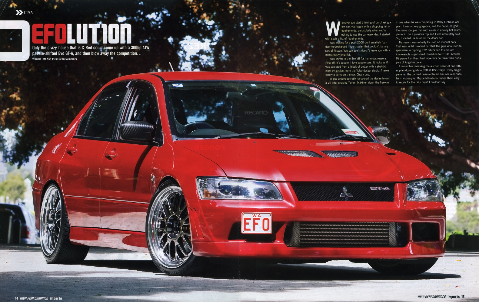Used Mitsubishi Lancer >> EFO - High Performance Imports (#95) | C-Red Tuning (Perth ...